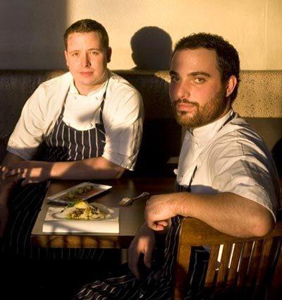 Dana Tough (right) and Brian McCracken at Spur [Seattle Times/Dean Rutz]