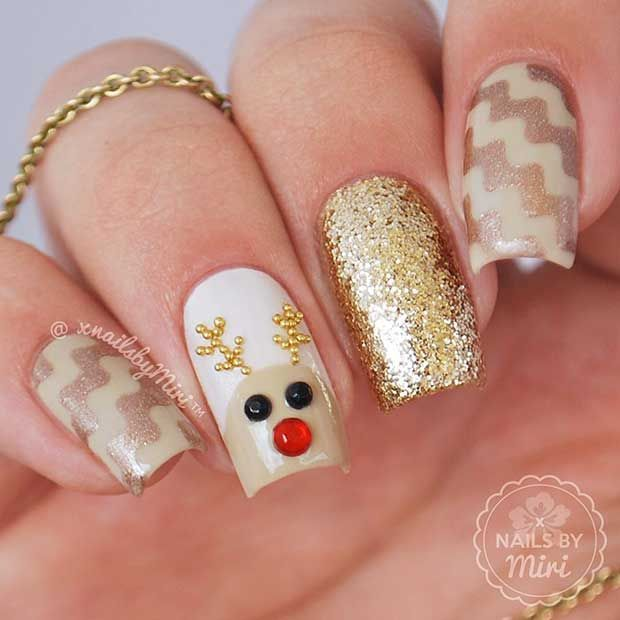 LATEST SHAPES OF WINTER NAIL ART IN 2018 5