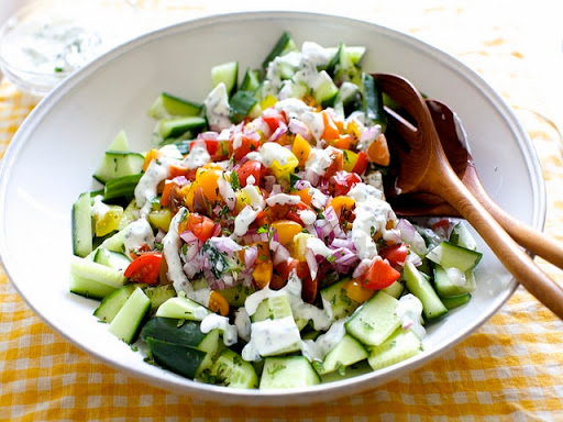 Cucumber Salad with Chiles and Yogurt