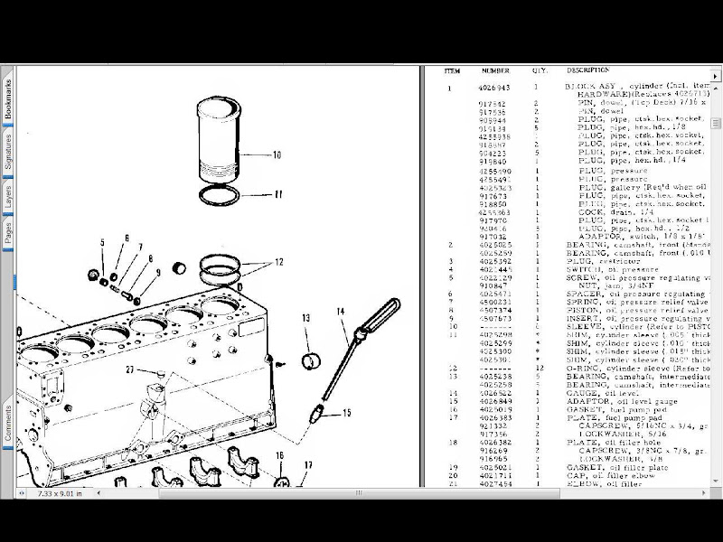 Allis Chalmers 220 Tractor Parts Manual