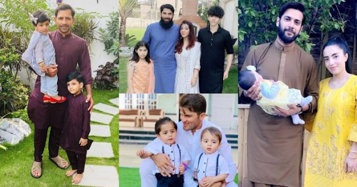 Pakistani cricketers Eid Pictures