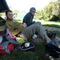 Mandara hut (2700 m) - zasluženi odmor nakon 14 sati hoda