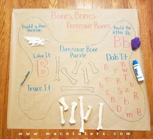 B is for Bones Activity Mat for Kids