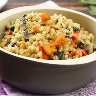 Pearl Barley Vegetable Risotto.