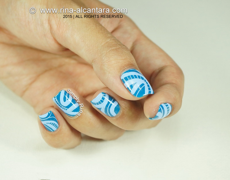an abstract nail art