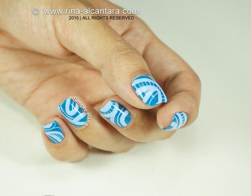 an abstract nail art