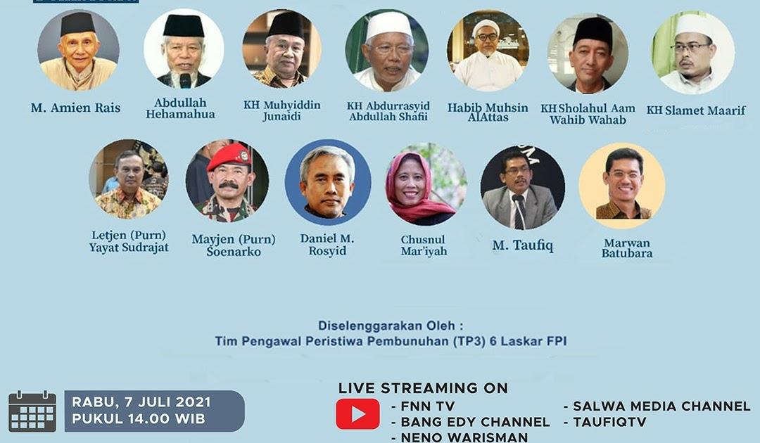 Peluncuran Buku Putih TP3 Laskar FPI Diganggu Tayangan Video P*rno