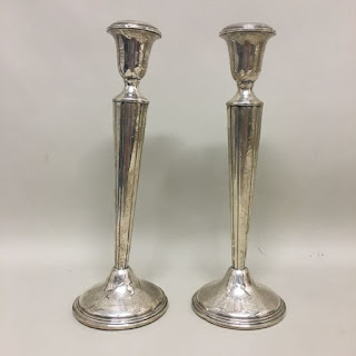 """Sterling Silver 10"""" Candle Sticks"""