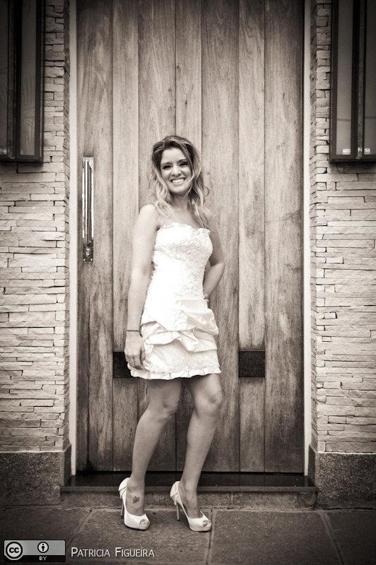 Foto de casamento 0189pb de Andressa e Vinicius. Marcações: 02/04/2011, Casamento Andressa e Vinicius, Fotos de Vestido, Marie Lafayette, Teresopolis, Vestido, Vestido de Noiva.