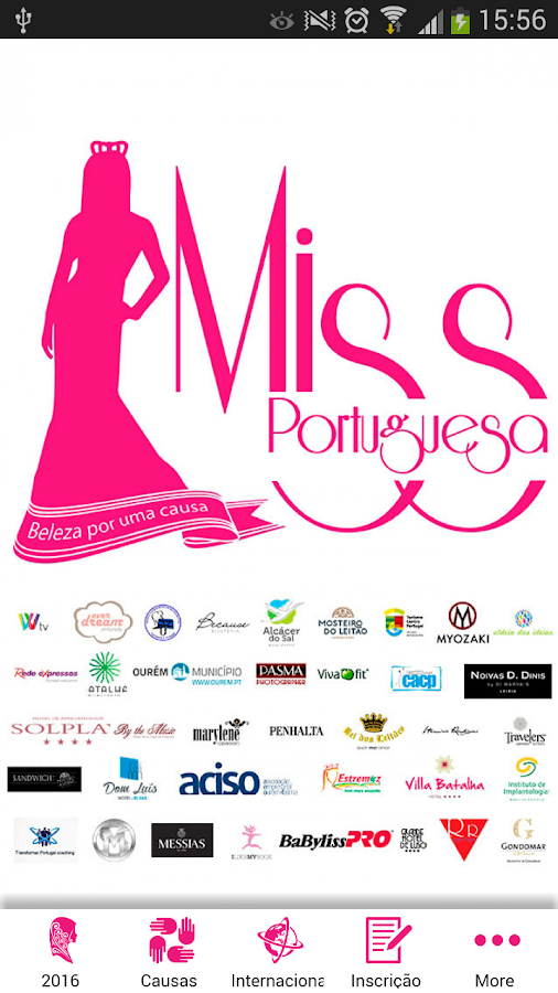 Miss Portuguesa: captura de tela