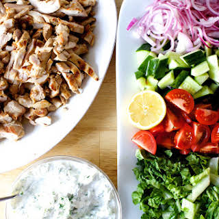 Chicken Gyro Salad.