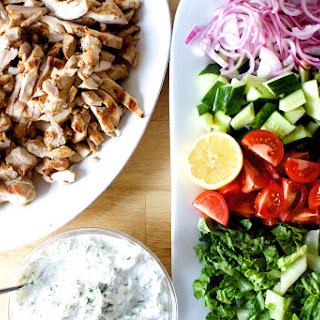 Chicken Gyro Salad.