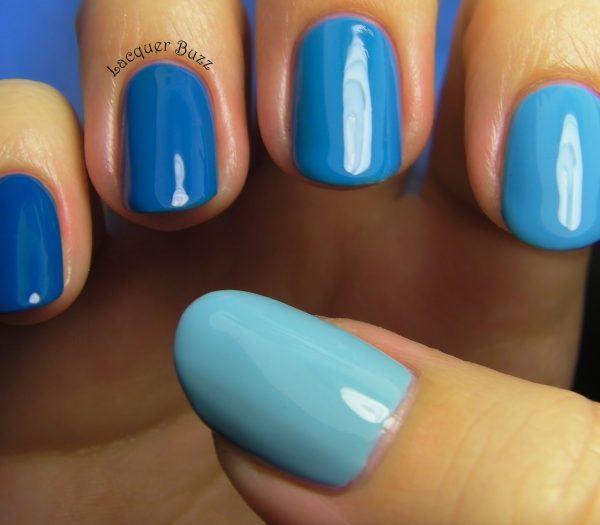 Light Blue Acrylic Nails Butterfly