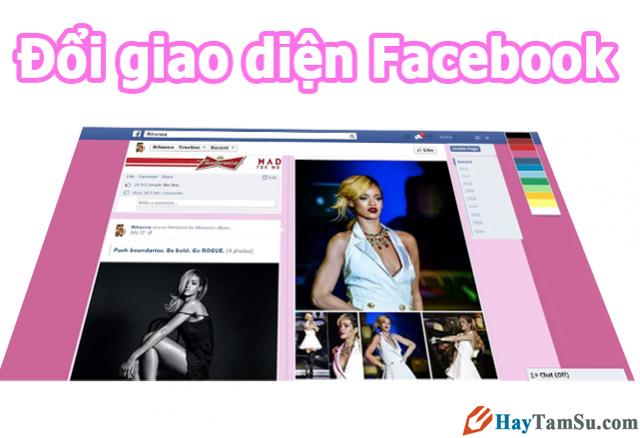 thay đổi giao diện facebook