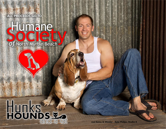 2016 Hunks, Hounds and a Cat Calendar