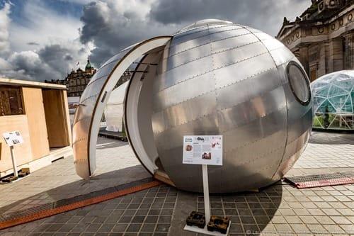 Tiny home Edinburgh International Science Festival