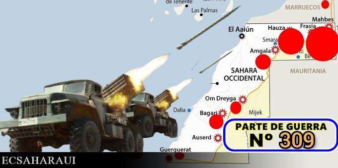 Parte de Guerra Nº 309. Guerra del Sáhara Occidental.