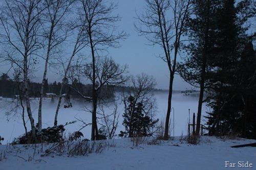 snowfog on the lake