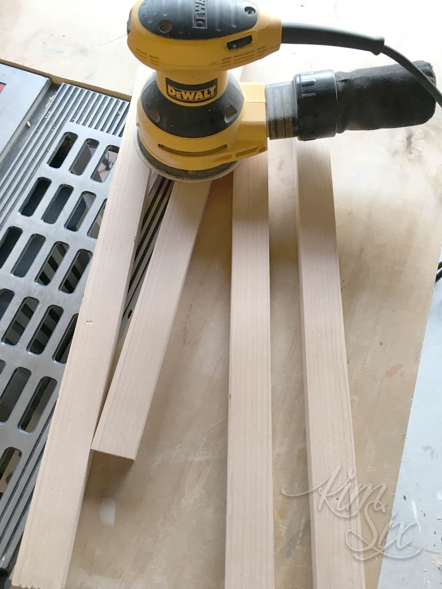 Sanding boards for frame