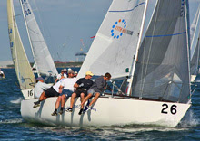J/24 sailboat- 11th Hour-Sailors-for-the-Sea Sailing Team at Tampa, Florida