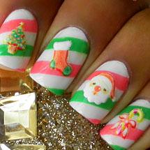 unhas fofas e decoradas para o Natal