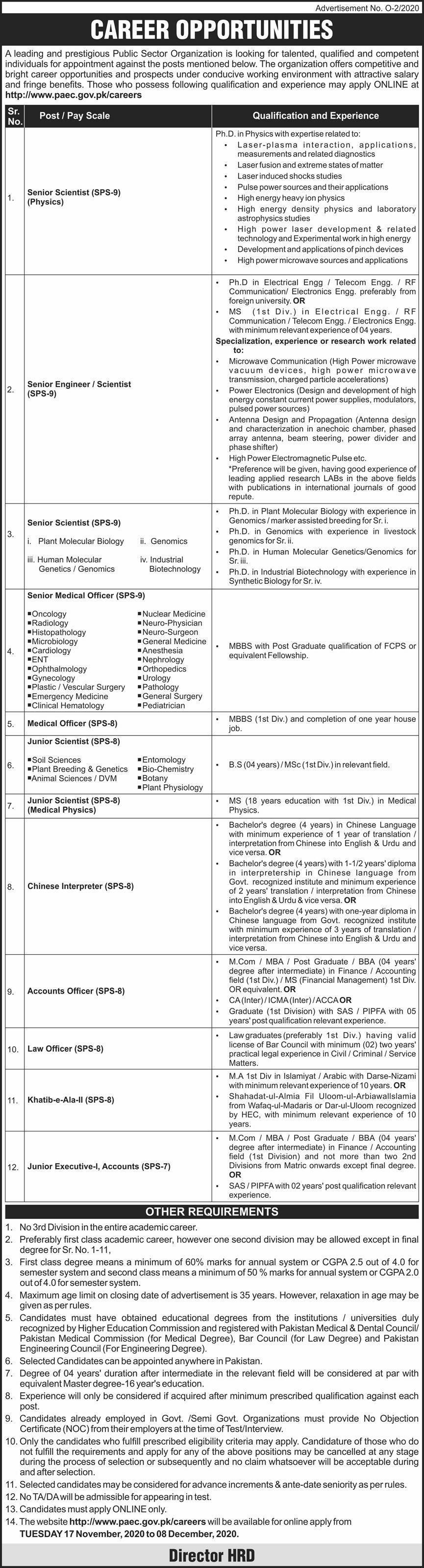 Jobs in Public Sector Organization 2020 Apply Online