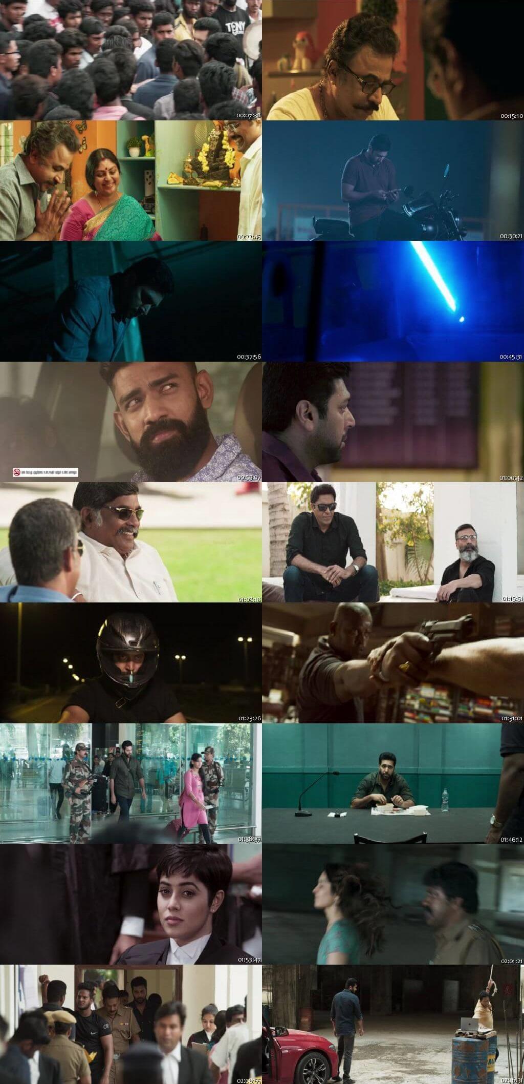 Screen Shot Of Adanga Maru 2018 300MB Full Movie Hindi Dubbed Free Download 480P BRRip Small Size PC Movie