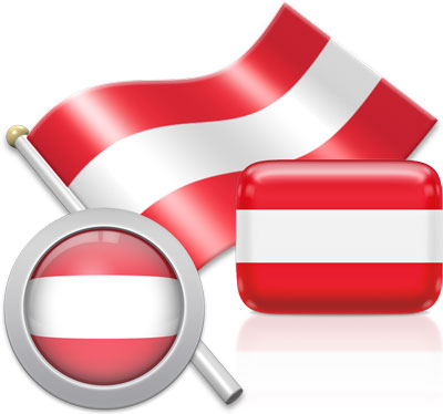 Austrian flag icons pictures collection