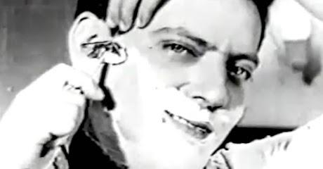 Campanha da Gillette nos anos 50 para promover a coleção Azul da sua famosa lâmina de barbear