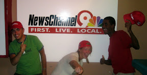 me with the newest members of the NewsChannel 9 News Team