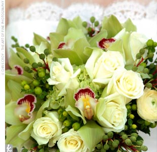 Bunga Mawar Hijau Nan Cantik