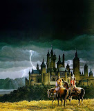Horseriders And Castle
