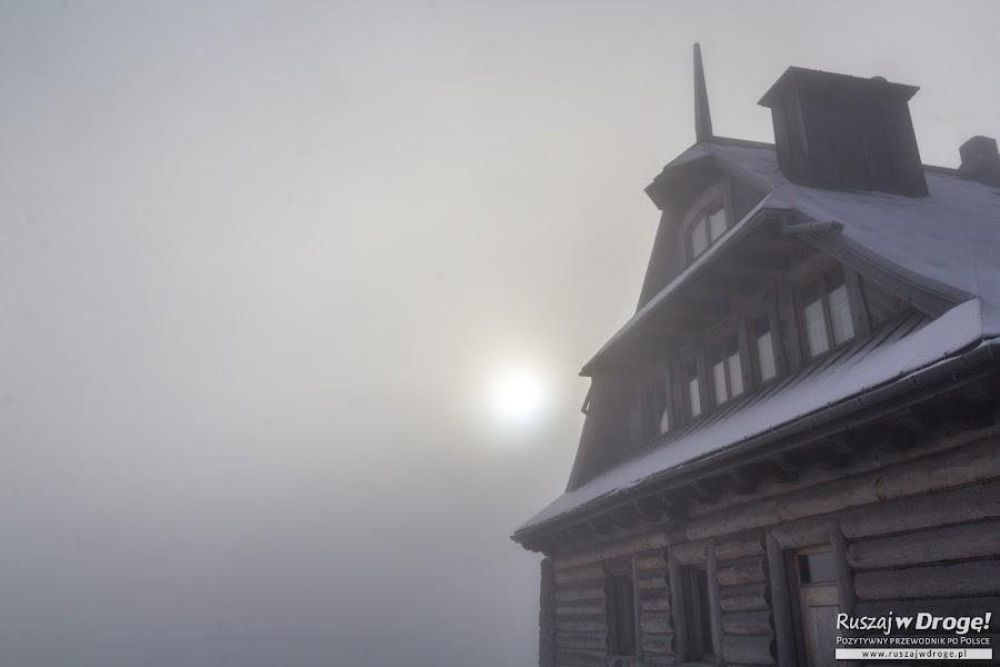 Zimowa mgła na Jaworzynie Krynickiej