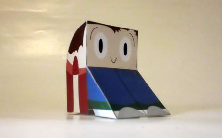 Boot Bodied Bobby Paper Toy