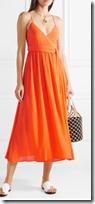 Mara Hoffman wrap effect crepon midi dress