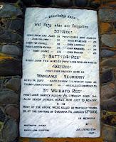 Ohawe NZ Wars memorial