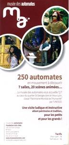 prospectus musée des automates à Lyon recto
