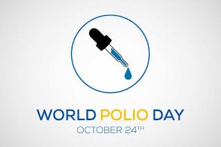 દરવર્ષે 24 October ના રોજ વિશ્વ પોલિયો દિવસની ઉજવણી