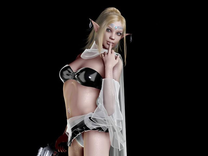 Elf Girl With Blaster, Elven Girls 2
