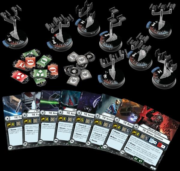 escuadrones de cazas Imperiales Star Wars Armada Wave 1