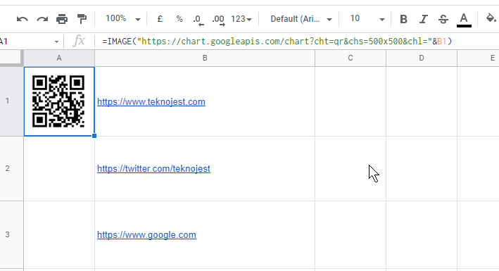 google-sheet-qr-kod-oluşturma