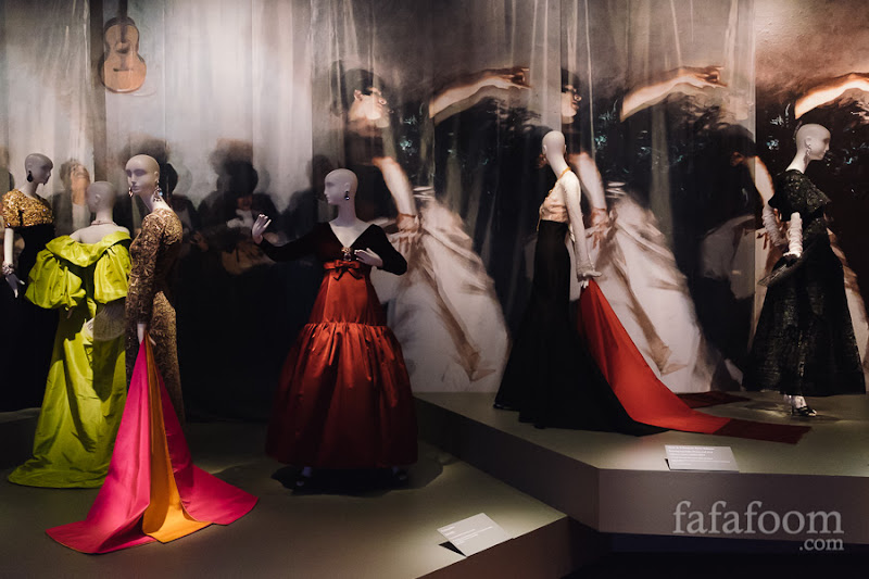 """Spanish Influence"" Showcase of Oscar de la Renta: The Retrospective exhibition at de Young Museum, San Francisco."