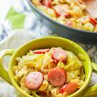 Cabbage & Turkey Kielbasa Skillet + Win a $700 Amazon Gift Card!.