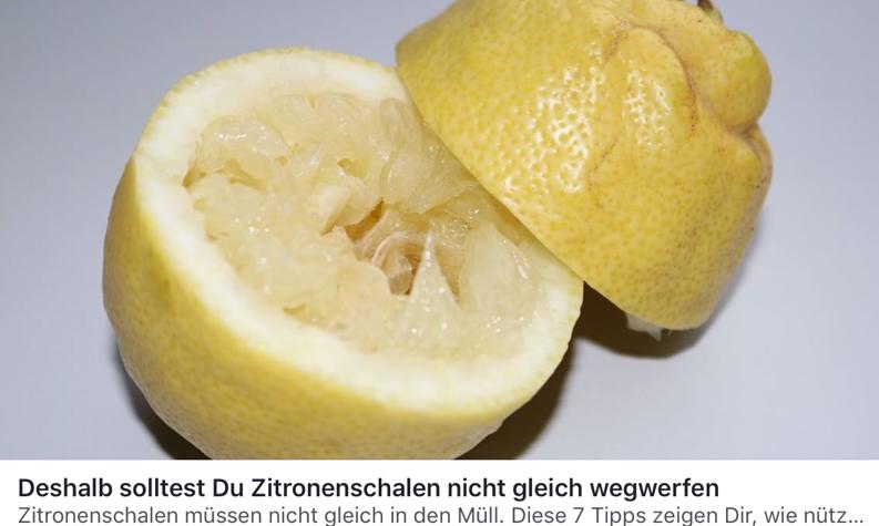 Deshalb solltest Du Zitronenschalen nicht wegwerfen