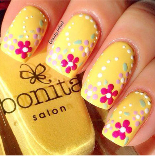 Flower Nail Art Designs
