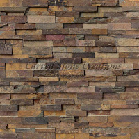 California Gold Natural Cleft Wall Stone Ledger Panels, 24in x 6