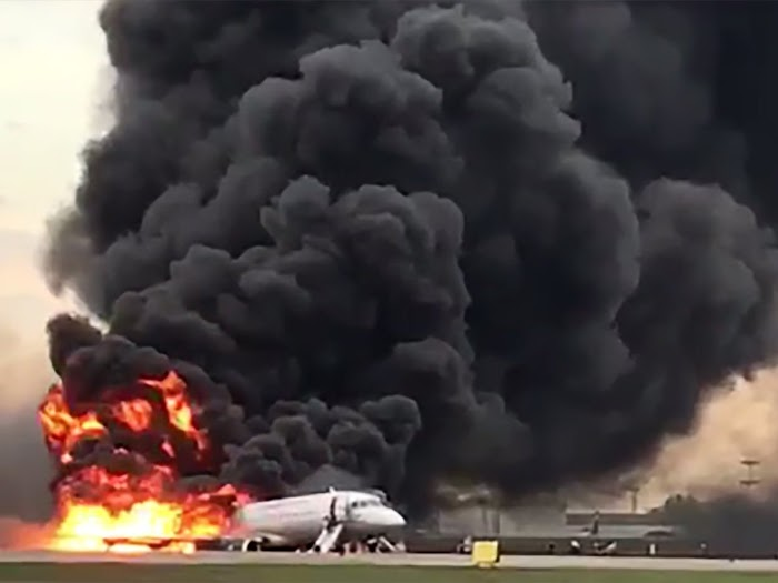 BREAKING: Tears across the world as 41 dead after Russian plane catches fire on the runway while making emergency landing - Report
