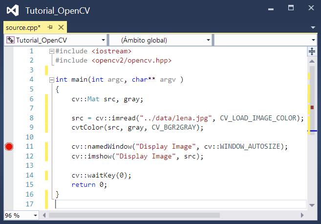 Depurar aplicación OpenCV en Visual Studio