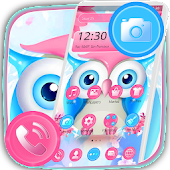 Pink Blue Cute Owl Theme