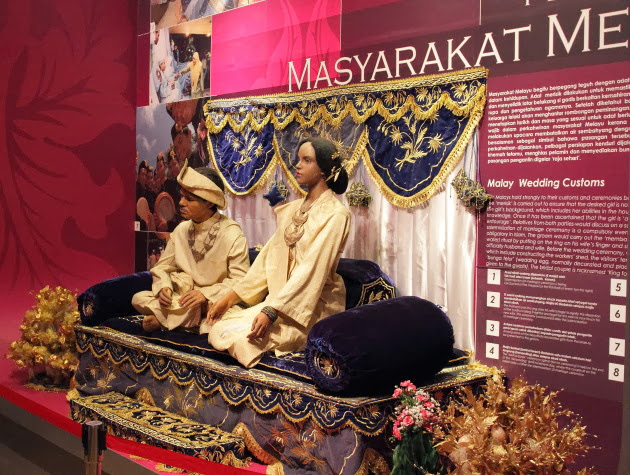 Malay Wedding customs depicted inside Perak State Museum, Taiping